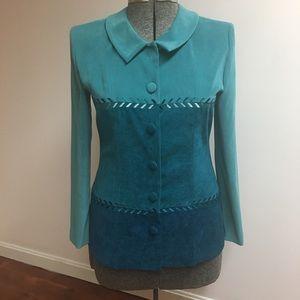 Positive Attitude Turquoise Blazer/Jacket